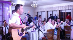 David Fraser of DCF Wedding Music playing music at a wedding venue