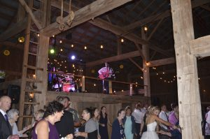 DCF Wedding Music Band Entertaining Guests at a Barn Wedding